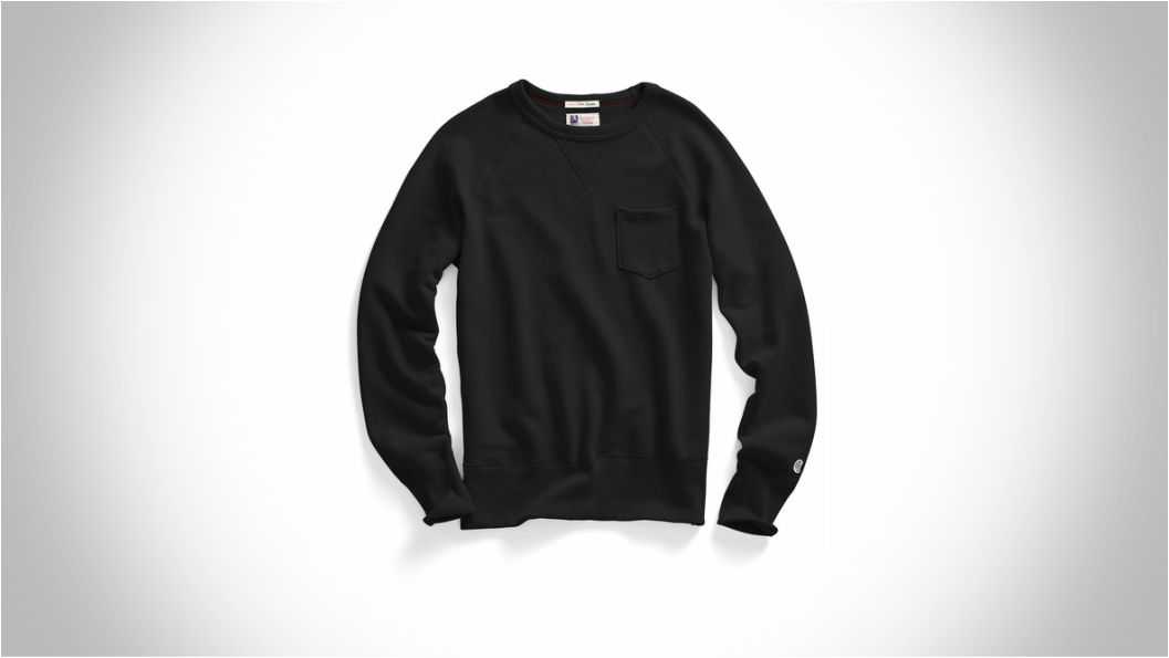 TODD SNYDER + CHAMPION CLASSIC POCKET SWEATSHIRT IN BLACK