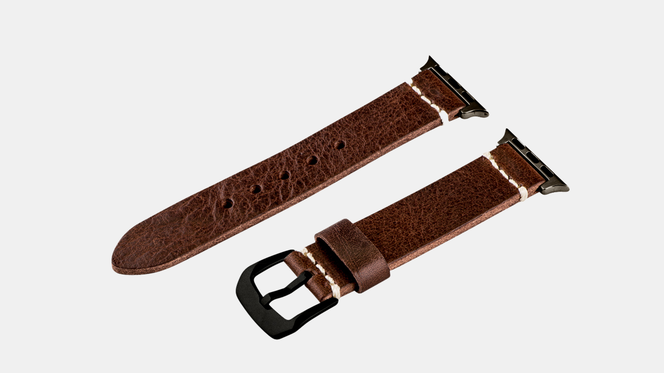 LEATHER APPLE WATCH BAND - ​CLOCKWORK SYNERGY