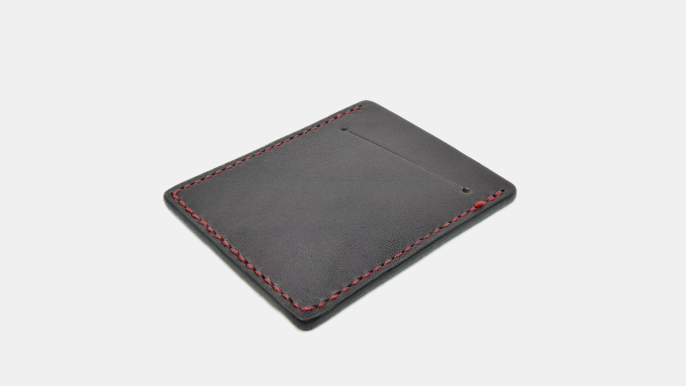 travel gear LEATHER WORKS CARD WALLET